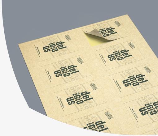 tisk recikliranih etiket
