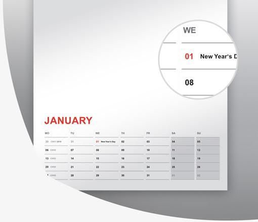 predloga za koledarje 2022