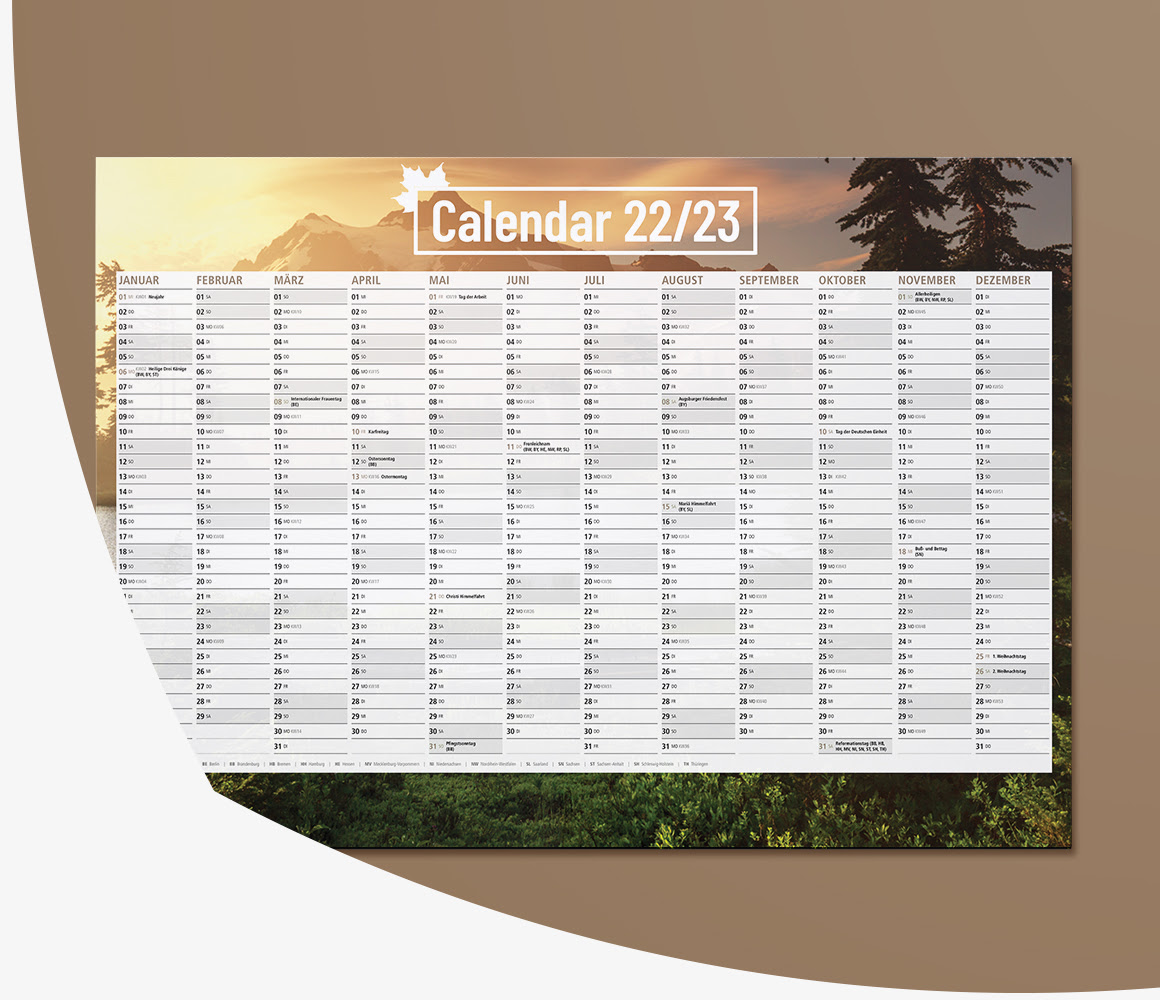 stenski koledar